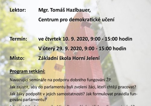 Seminář pro koordinátory žákovských parlamentů