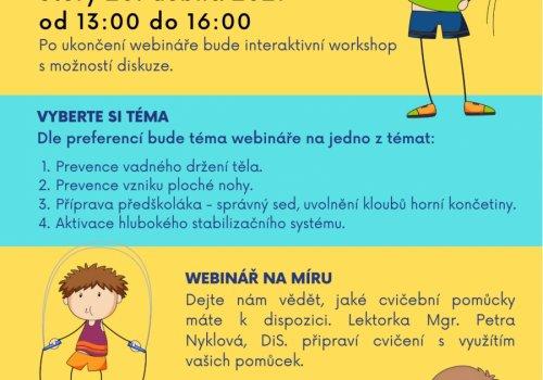 Webinář zdravé pohybové návyky u malých dětí