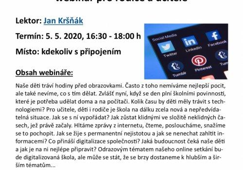 Webinář Děti a technologie